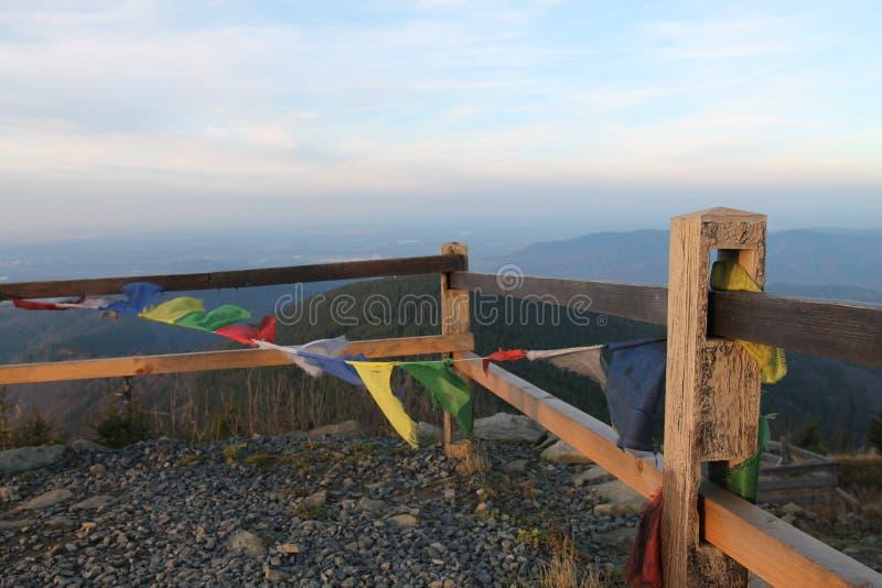 Νεπάλ στις tibetian σημαίες hora Lysa στοκ εικόνες με δικαίωμα ελεύθερης χρήσης