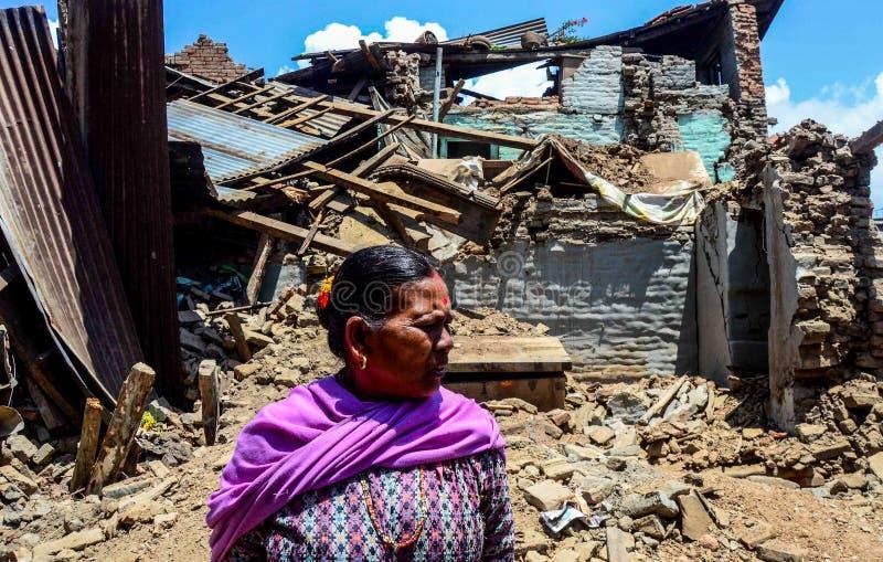 Νεπάλ-σεισμός-2015 στοκ εικόνες