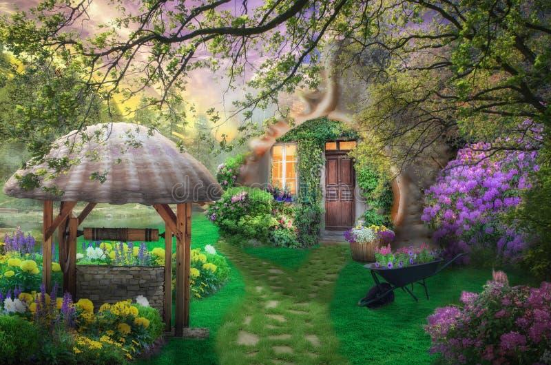 Νεράιδα λουλουδιών σπιτιών στοκ εικόνες