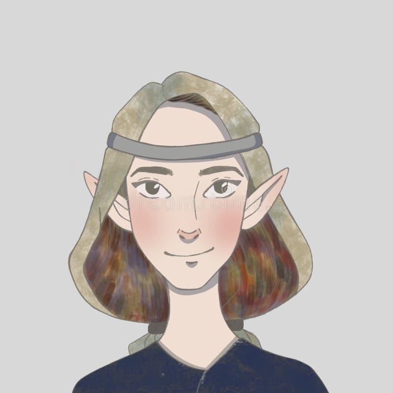 Νεράιδα τύπων headband με τα αυτιά νεραιδών διανυσματική απεικόνιση