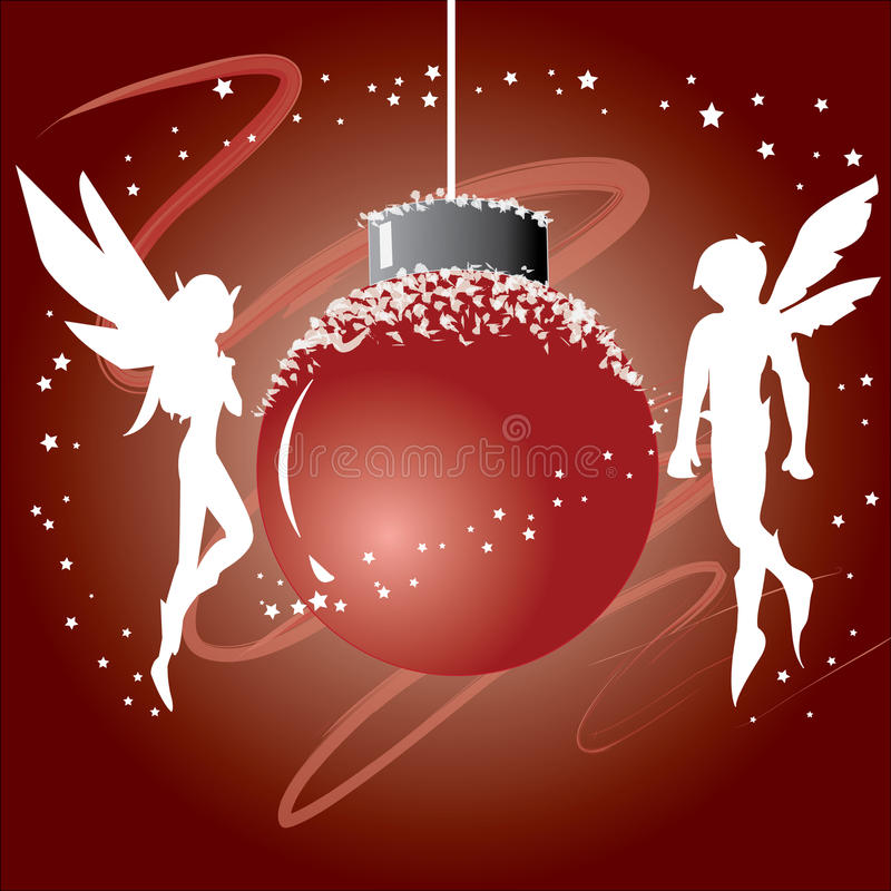 νεράιδα Χριστουγέννων σφ&alp ελεύθερη απεικόνιση δικαιώματος
