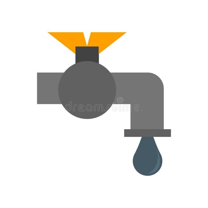 Νερού σημάδι και σύμβολο εικονιδίων διανυσματικό που απομονώνονται στο άσπρο υπόβαθρο, έννοια λογότυπων νερού απεικόνιση αποθεμάτων