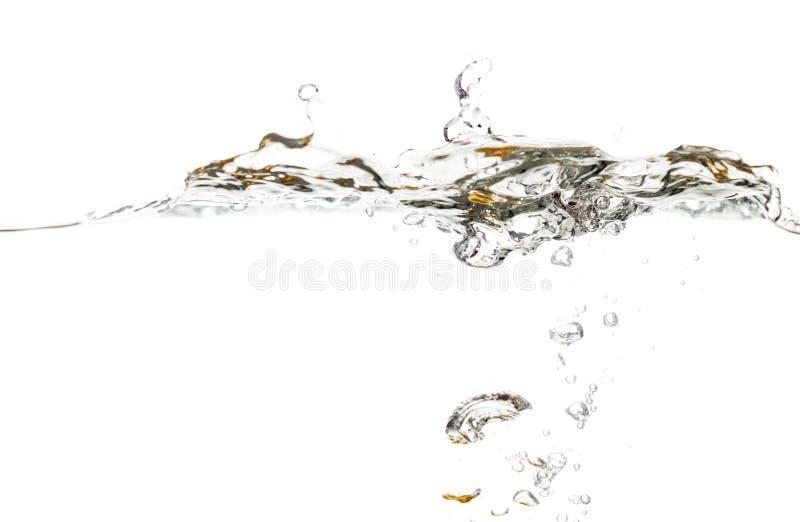Νερό ομαλό με τα κύματα απομονωμένη στο άσπρο υπόβαθρο στοκ φωτογραφία με δικαίωμα ελεύθερης χρήσης