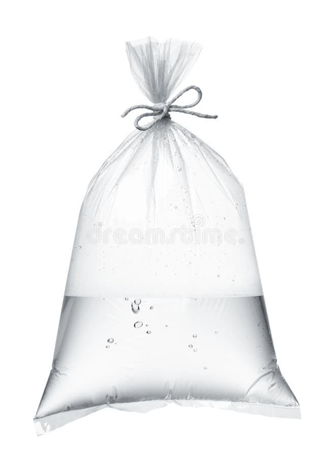 Νερό στη πλαστική τσάντα στοκ εικόνες με δικαίωμα ελεύθερης χρήσης