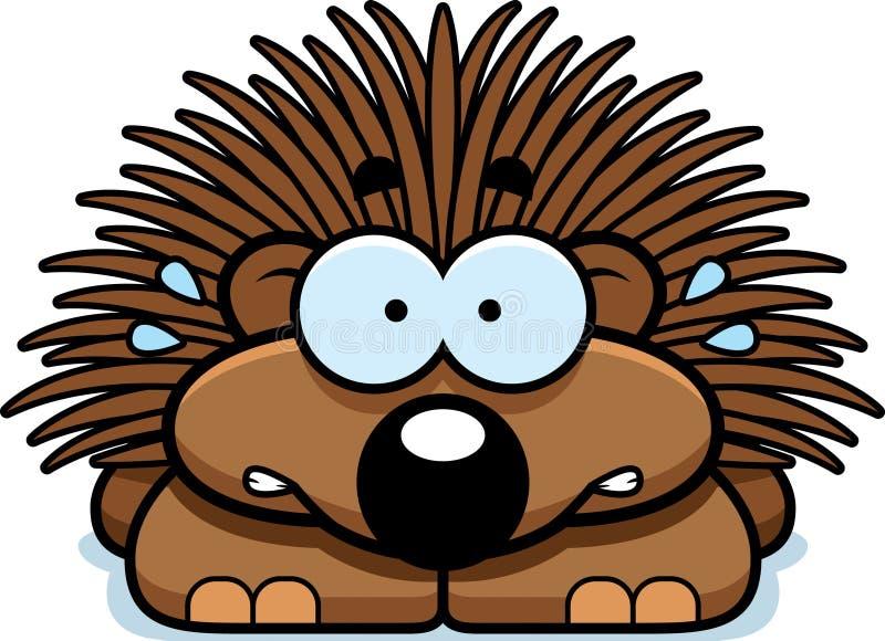 Νευρικός λίγο Porcupine διανυσματική απεικόνιση