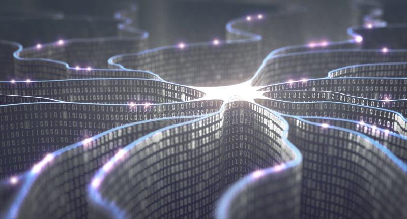 Νευρικό δίκτυο τεχνητής νοημοσύνης στοκ φωτογραφίες