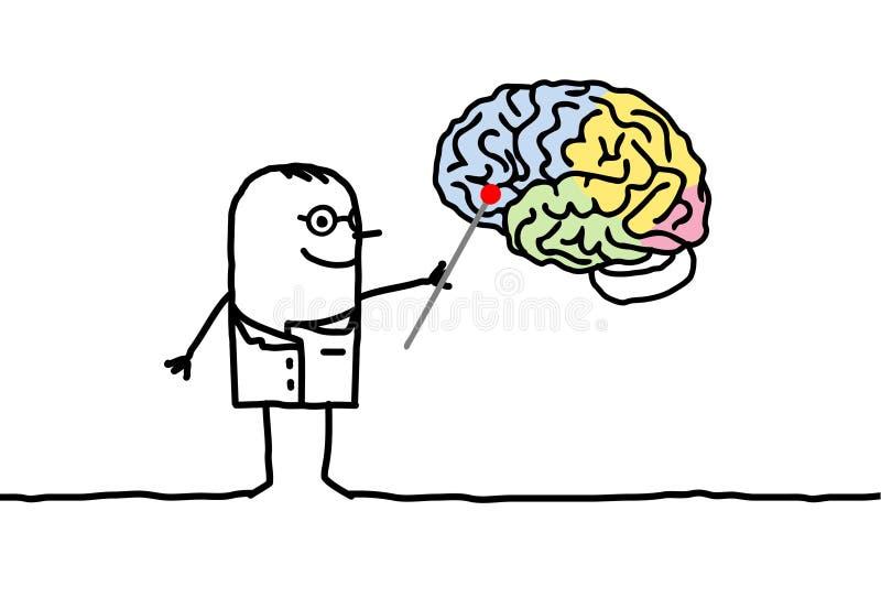 νευρολογία διανυσματική απεικόνιση