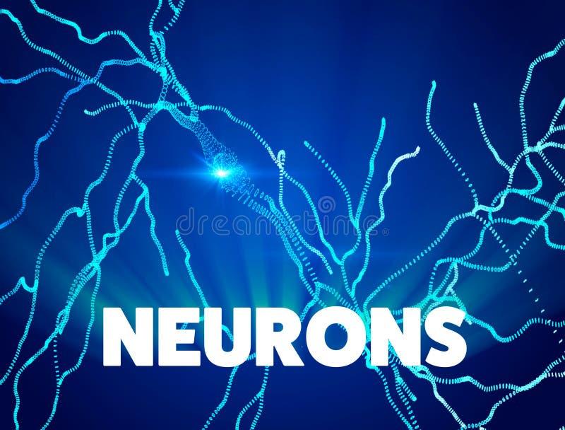 Νευρώνες, συνάψεις, νευρικό κύκλωμα δικτύων των νευρώνων, εγκέφαλος, εκφυλιστικές ασθένειες, Parkinson απεικόνιση αποθεμάτων