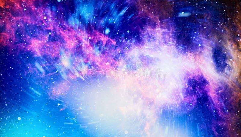 Νεφέλωμα και γαλαξίες στο διάστημα Πλανήτης και γαλαξίας - στοιχεία αυτής της εικόνας που εφοδιάζεται από τη NASA διανυσματική απεικόνιση