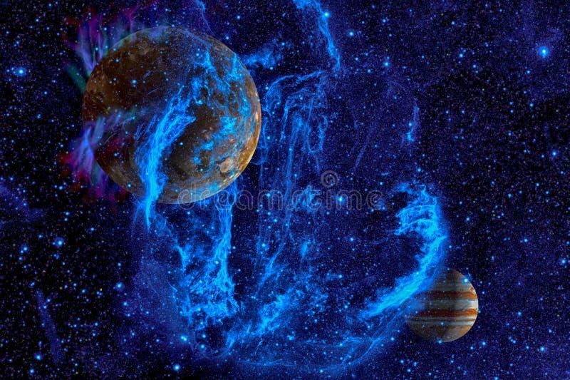 Νεφέλωμα και γαλαξίες στο διάστημα Στοιχεία αυτής της εικόνας που εφοδιάζεται από τη NASA στοκ φωτογραφία