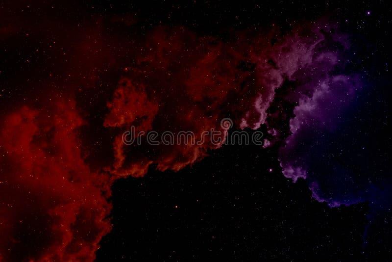 Νεφέλωμα και αστέρια διανυσματική απεικόνιση