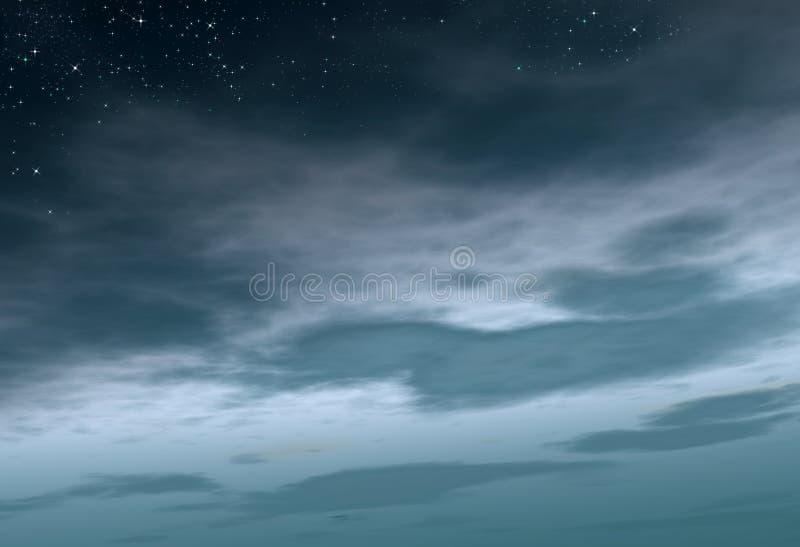 νεφελώδης νύχτα έναστρη στοκ εικόνες με δικαίωμα ελεύθερης χρήσης