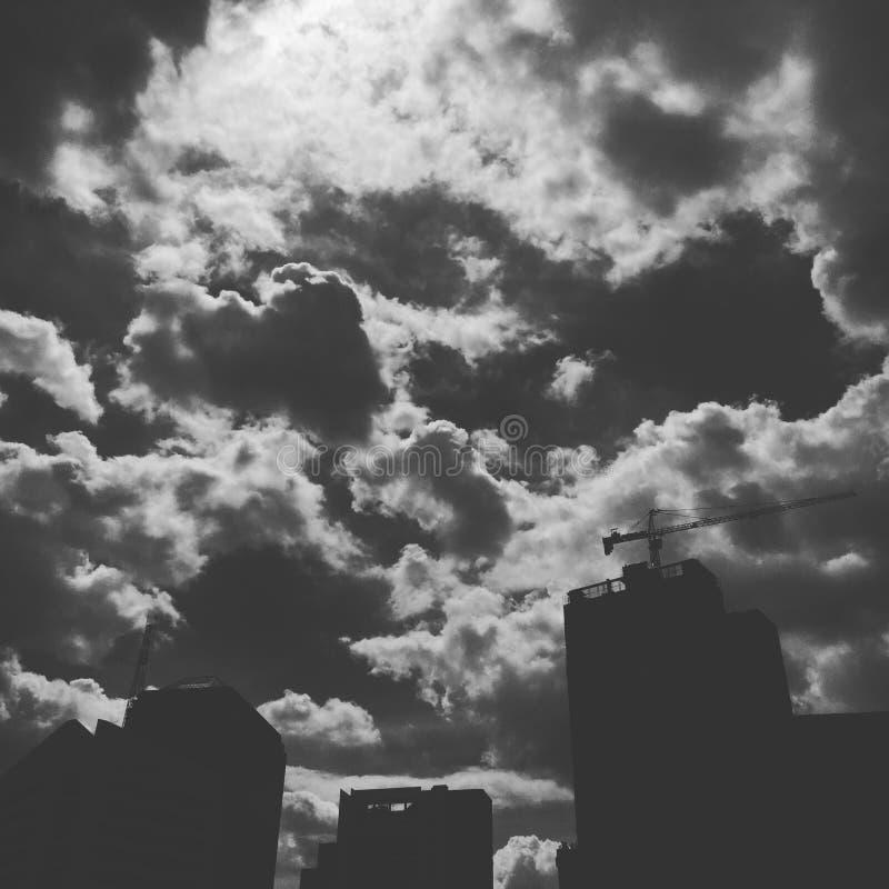 Νεφελώδης ουρανός σε BKK στοκ εικόνες