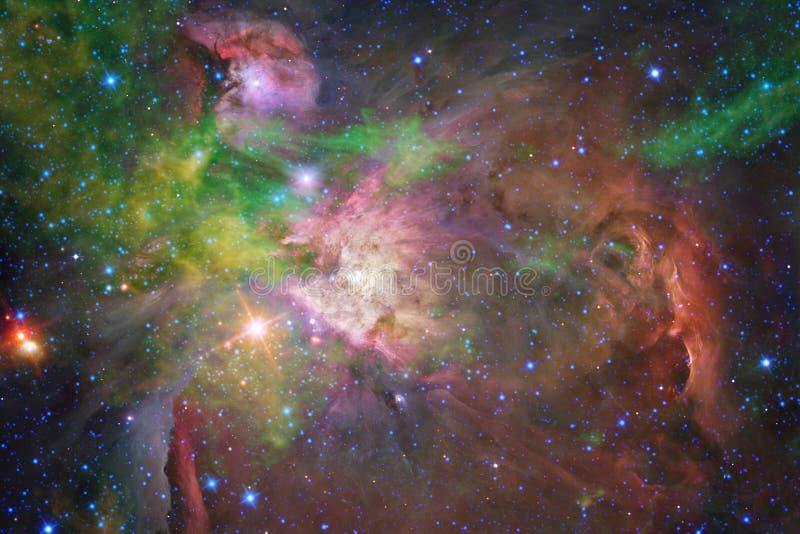 Νεφελώματα και πολλά αστέρια στο μακρινό διάστημα Στοιχεία αυτής της εικόνας που εφοδιάζεται από τη NASA ελεύθερη απεικόνιση δικαιώματος