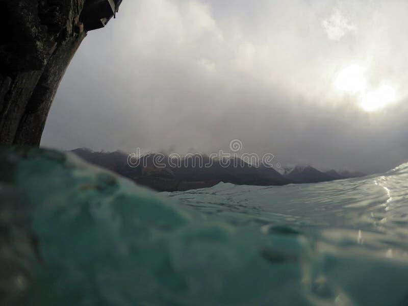 Νεφελώδης λίμνη Νέα Ζηλανδία στοκ φωτογραφία