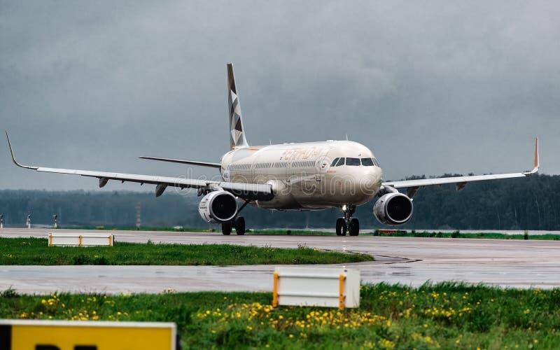 ΝΕΩ αερογραμμές Etihad airbus A321 στοκ εικόνες με δικαίωμα ελεύθερης χρήσης