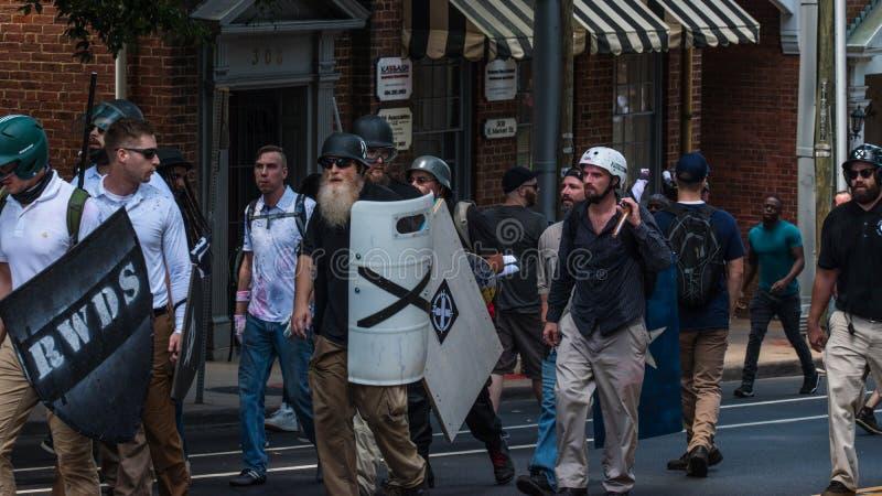 Νεω - διαφωνία Ναζί με τους διαμαρτυρομένους στοκ εικόνες με δικαίωμα ελεύθερης χρήσης