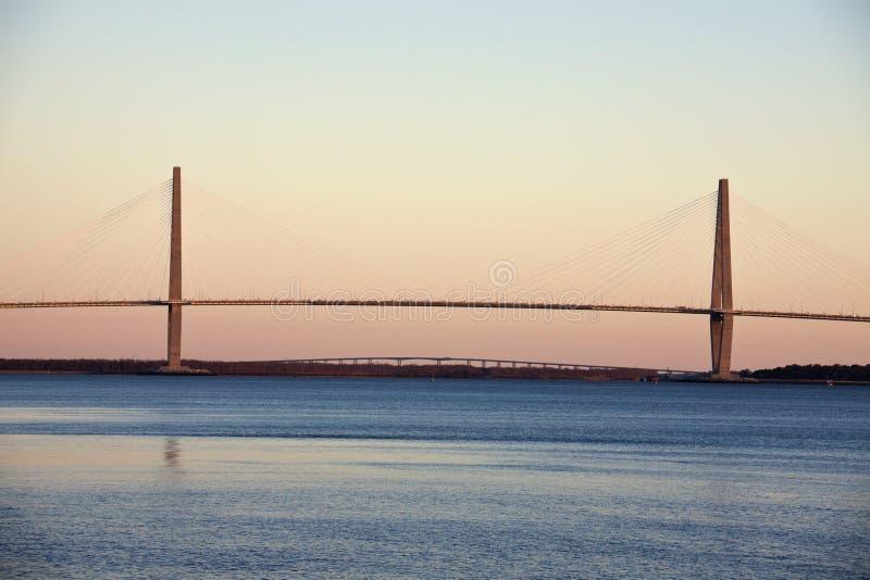 Νεώτερη γέφυρα αρθούρου Ravenel στοκ φωτογραφία