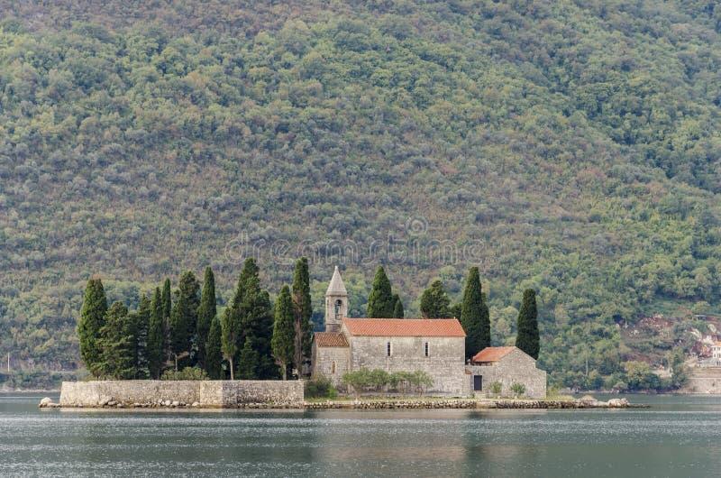 Νησί Αγίου George, Μαυροβούνιο Στοκ Εικόνα