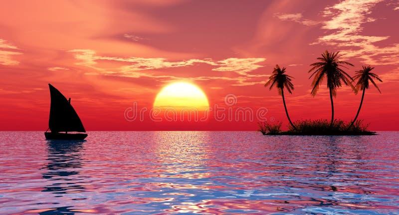 νησί βαρκών ελεύθερη απεικόνιση δικαιώματος
