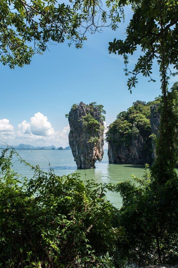 Νησί δεσμών, Ταϊλάνδη Λεπτομερές πανόραμα του νησιού στοκ εικόνες