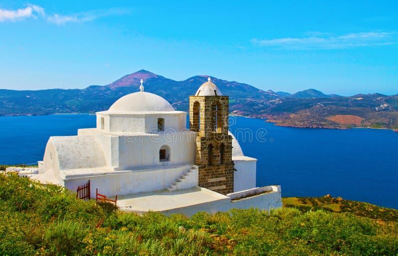 Νησί Ελλάδα της Μήλου εκκλησιών Thalassitra Panaghia στοκ φωτογραφίες
