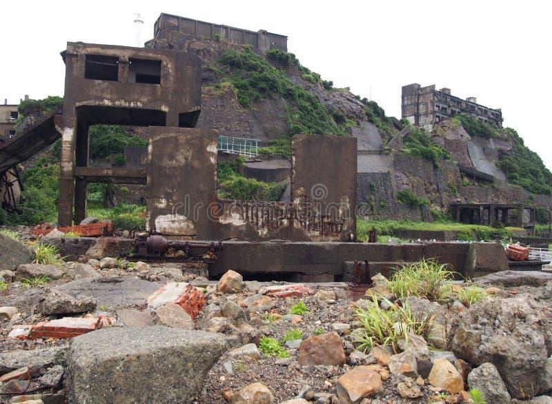 Νησί θωρηκτών Gunkanjima στο Ναγκασάκι Ιαπωνία στοκ φωτογραφίες