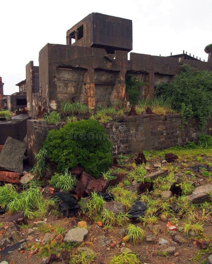 Νησί θωρηκτών Gunkanjima στο Ναγκασάκι Ιαπωνία στοκ εικόνα