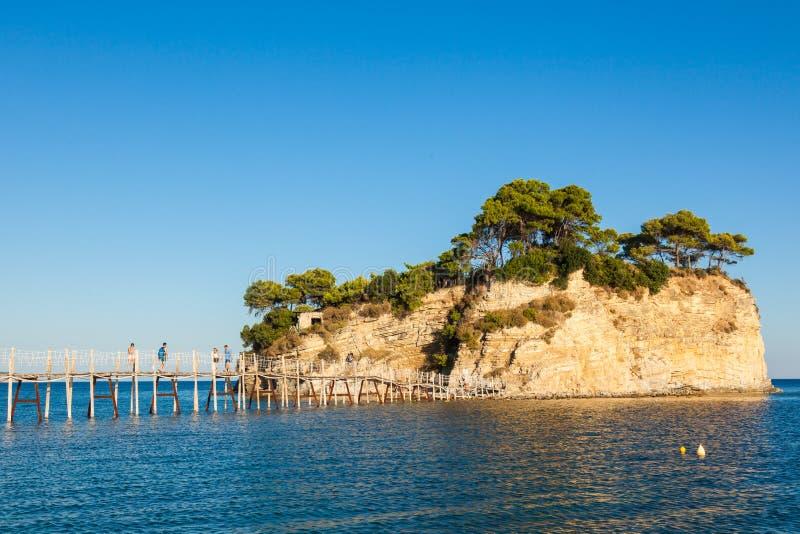Νησί καμεών στο νησί της Ζάκυνθου Zante, στην Ελλάδα στοκ εικόνες με δικαίωμα ελεύθερης χρήσης