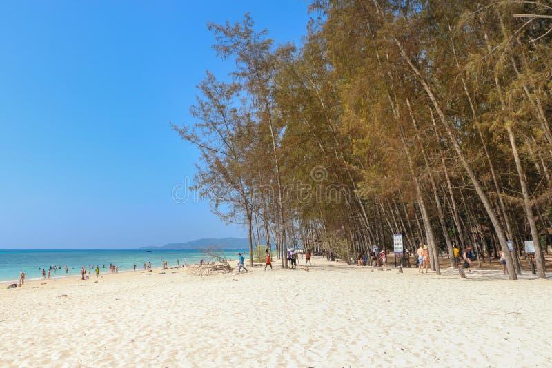 Νησί μπαμπού στο krabi, Ταϊλάνδη στοκ εικόνες