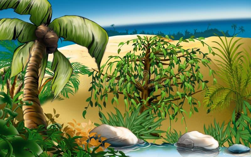 νησί ονείρων απεικόνιση αποθεμάτων