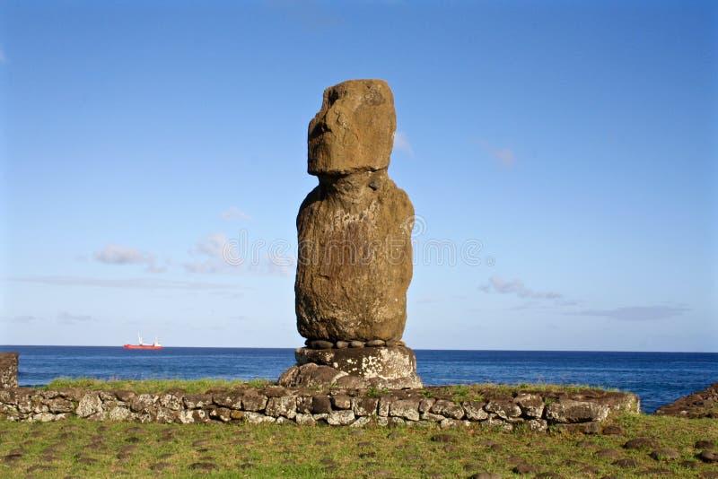Νησί Πάσχας αγαλμάτων Moai, Χιλή στοκ φωτογραφία με δικαίωμα ελεύθερης χρήσης