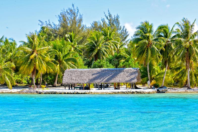 Νησί σε Bora Bora στοκ φωτογραφίες με δικαίωμα ελεύθερης χρήσης