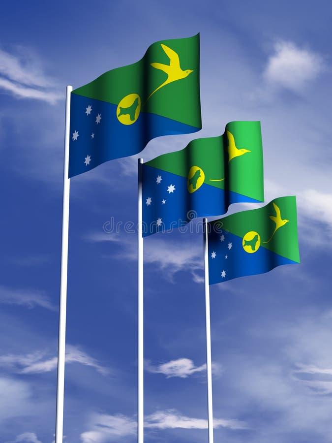 νησί σημαιών Χριστουγέννων διανυσματική απεικόνιση