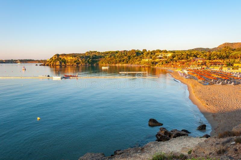 Νησί της Ζάκυνθου, Ελλάδα Ένα μαργαριτάρι της Μεσογείου με τις παραλίες και τις ακτές κατάλληλες για τις αξέχαστες διακοπές θάλασ στοκ εικόνες