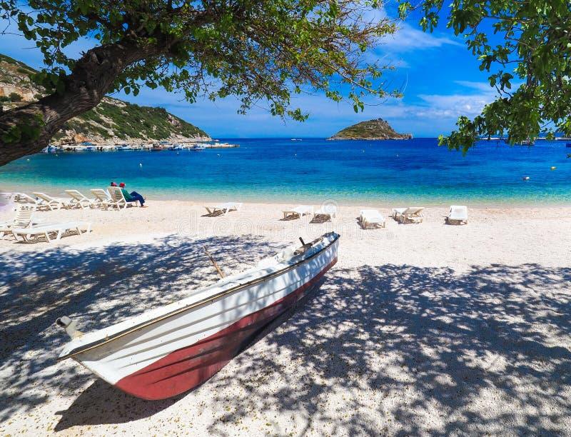Νησί της Ζάκυνθου λιμένων του Άγιου Νικολάου Ελλάδα, Ζάκυνθος στοκ φωτογραφία με δικαίωμα ελεύθερης χρήσης