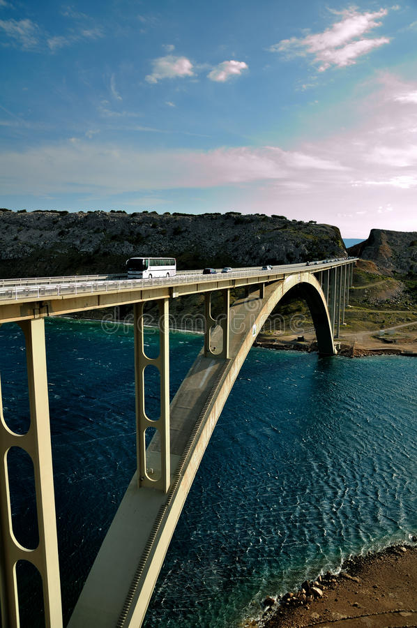 νησί της Κροατίας γεφυρών kr στοκ εικόνες