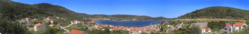 νησί της Κροατίας vis στοκ φωτογραφία με δικαίωμα ελεύθερης χρήσης