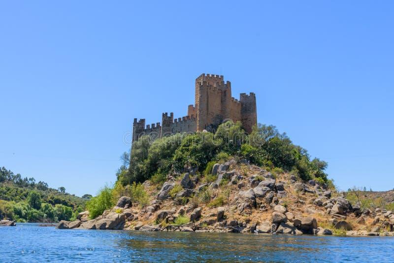 Νησί του Castle Almourol Πορτογαλία στοκ εικόνες με δικαίωμα ελεύθερης χρήσης