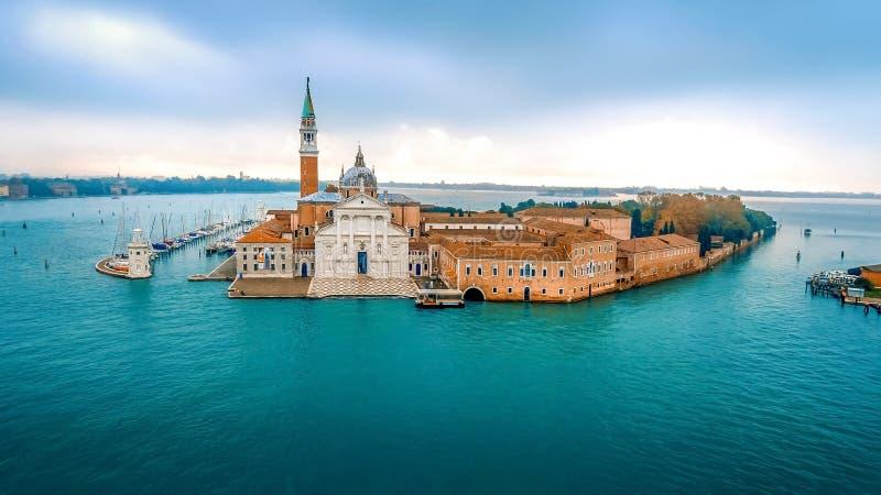 Νησί του SAN Giorgio Maggiore στην ενετική λιμνοθάλασσα, Βενετία, Ιταλία στοκ φωτογραφία
