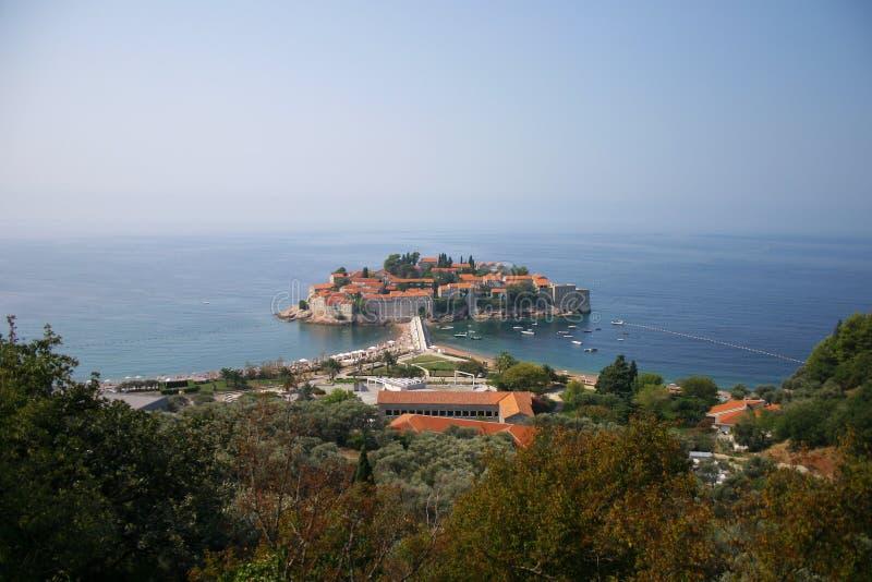Νησί του Stefan Sveti στοκ φωτογραφίες
