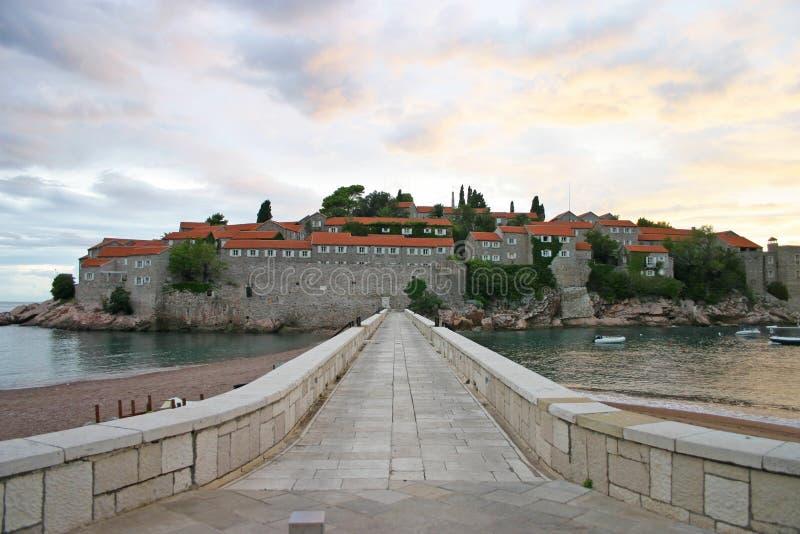 Νησί του Stefan Sveti στοκ εικόνα