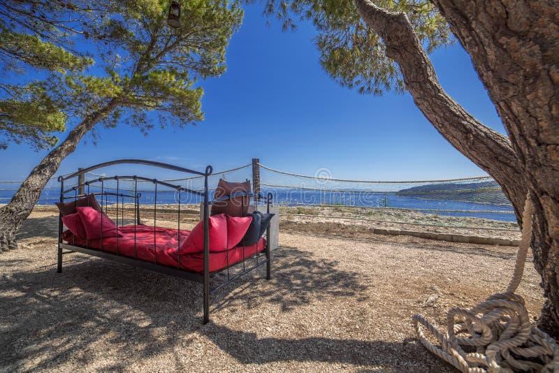 Νησί χαλάρωσης Vis στην Κροατία στοκ φωτογραφία