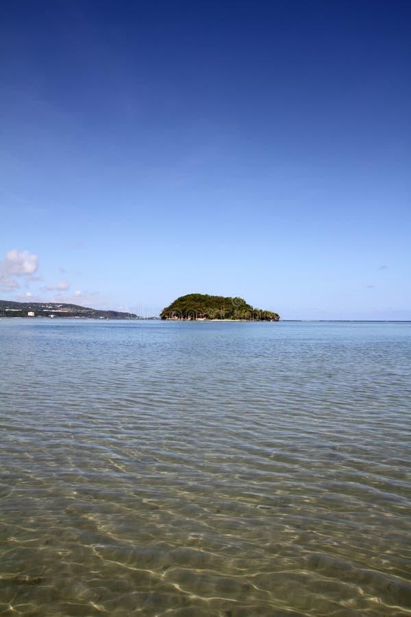 Νησί Alpat στο Γκουάμ στοκ εικόνα