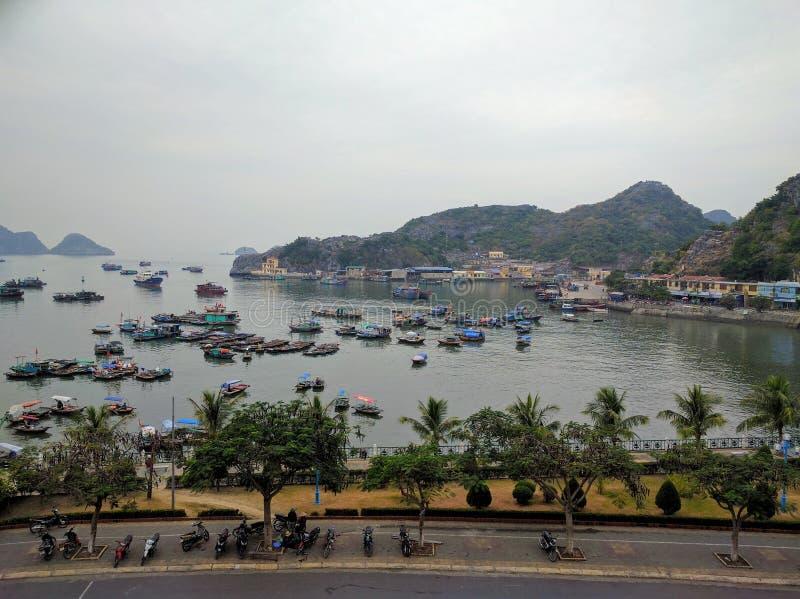 Νησί BA γατών τή νύχτα, Βιετνάμ στοκ εικόνες