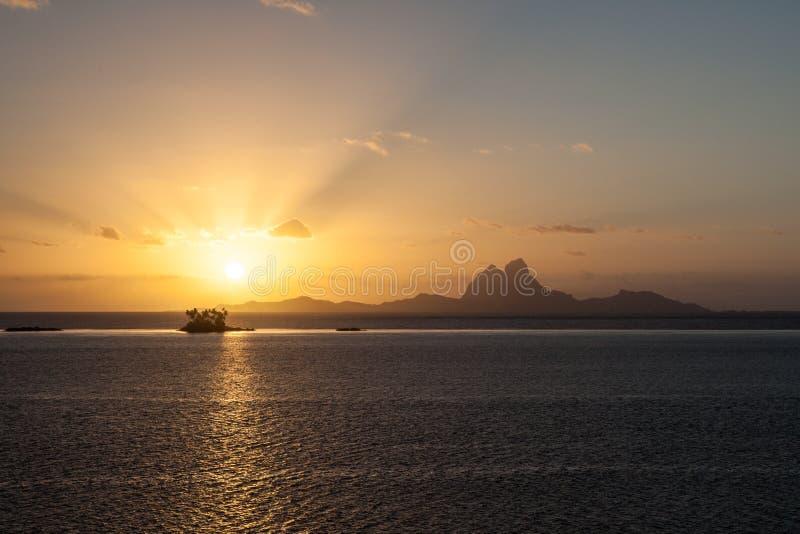 Νησί Bora Bora στη γαλλική Πολυνησία στοκ εικόνα με δικαίωμα ελεύθερης χρήσης