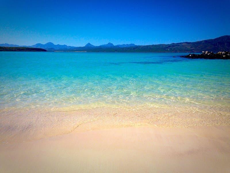 Νησί Coronado από τον κόλπο Loreto στοκ φωτογραφία με δικαίωμα ελεύθερης χρήσης