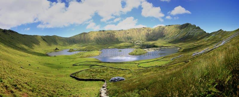 Νησί Corvo στοκ εικόνες
