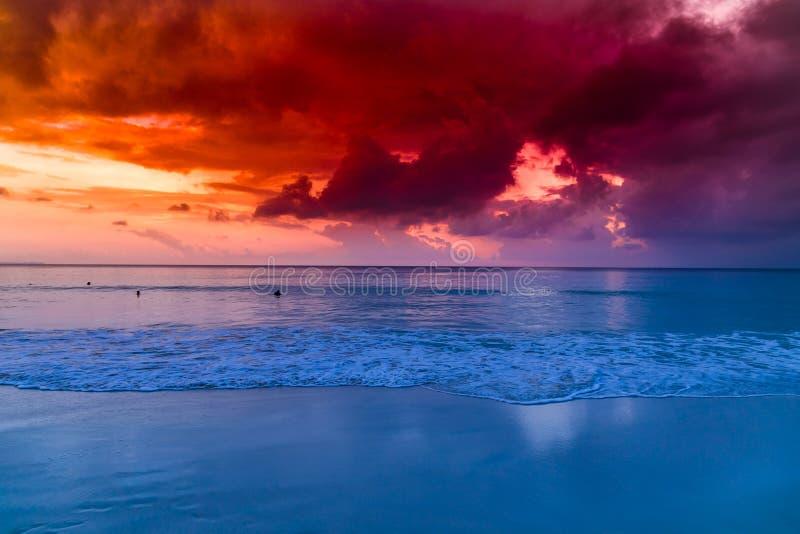 Νησί Havelock με τον κόκκινο ουρανό στοκ εικόνα με δικαίωμα ελεύθερης χρήσης