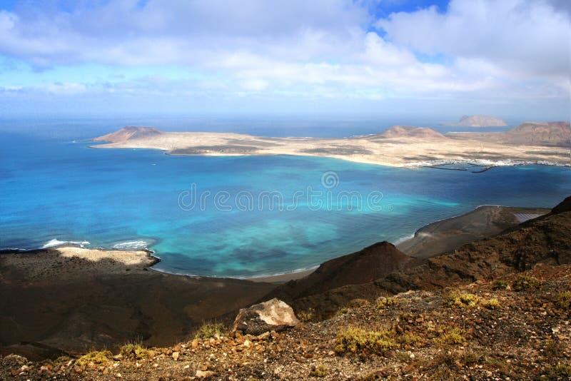 νησί isla graciosa καναρινιών στοκ φωτογραφίες